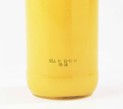Orange juice with expiration date