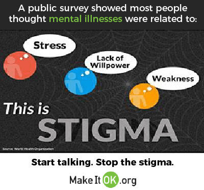 Start talking. Stop the stigma. MakeItOk.org