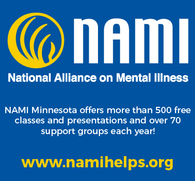 NAMI Minnesota, classes and support groups and more. www.namihelps.org