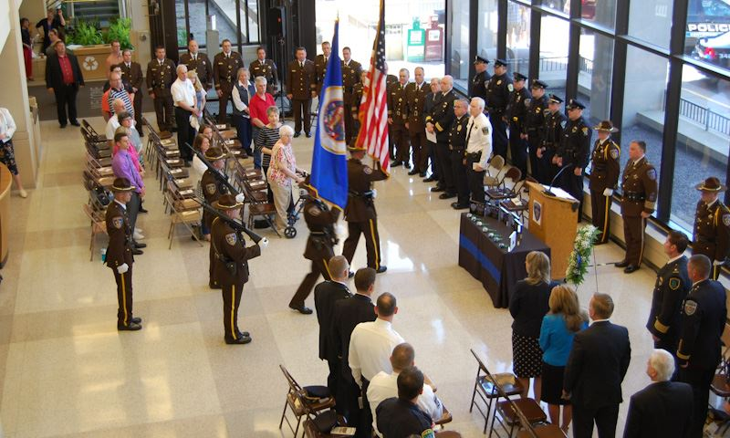 Atrium photo of Law Enforcement Memorial Service