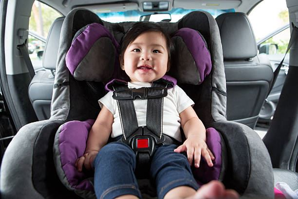 Child pictured in car seat