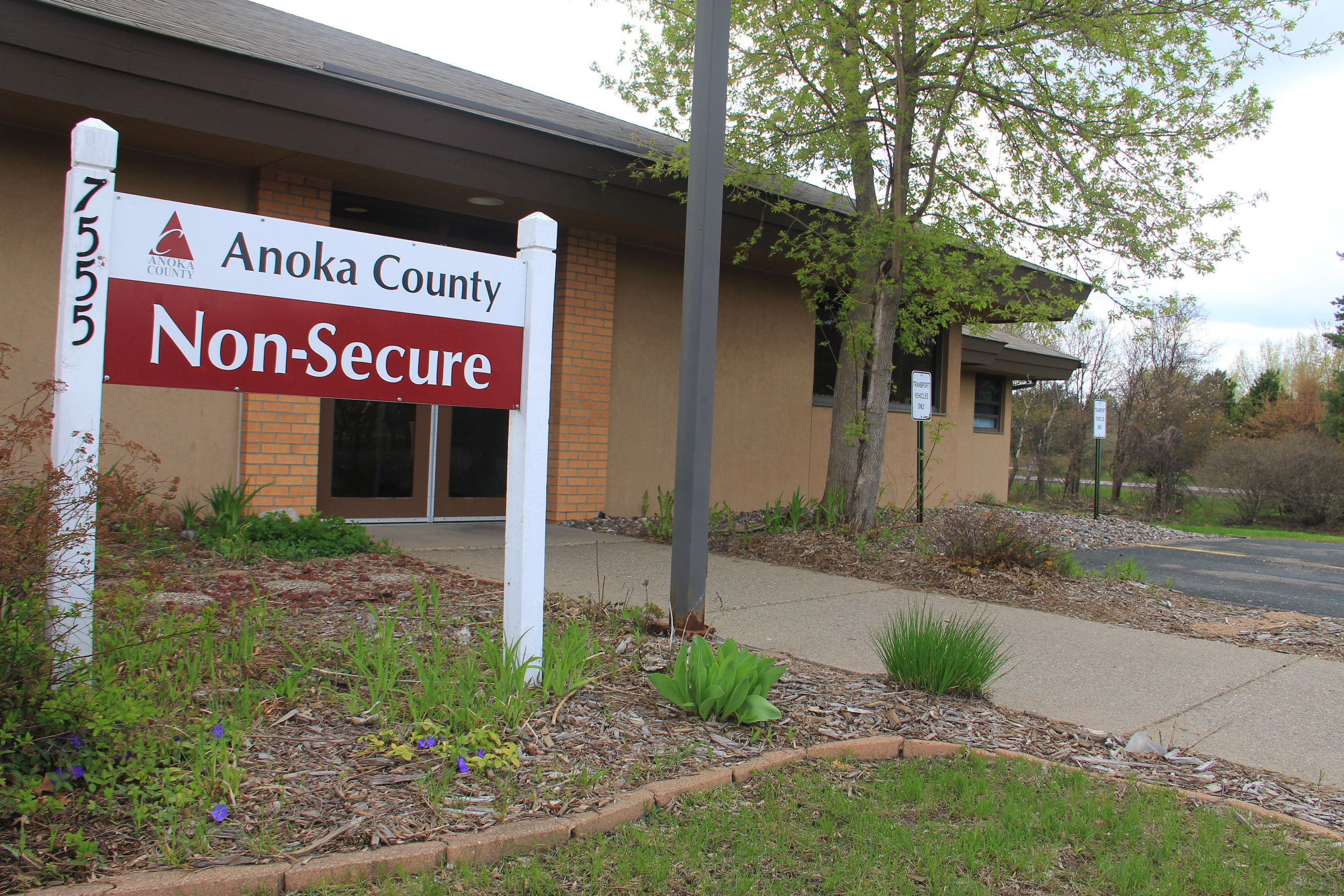 Anoka County Non-Secure Program Front Building